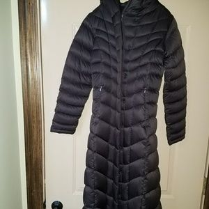 Patagonia womens XS long brown coat
